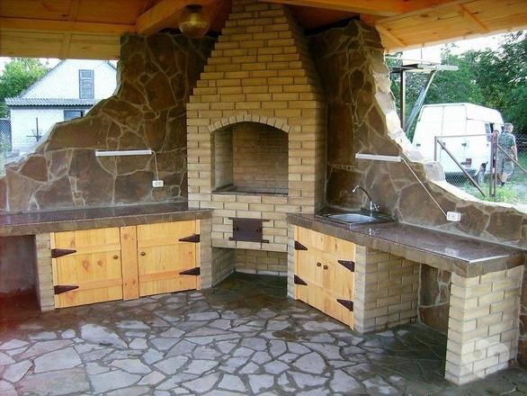 Besedka, комплексное строительство - Печь барбекю (с облицовкой)