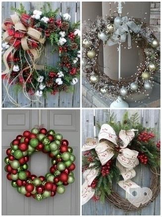 Флоранна, мастерская флористики и декора - Новогодний веночек подвесной