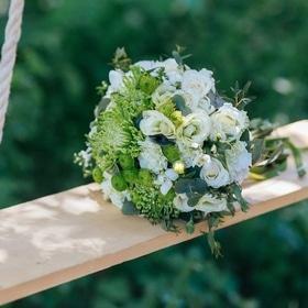 Свадьба - Бело-зеленый букет