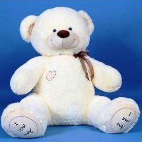 Новий рік  2018 - Плюшевий ведмедик (білий)
