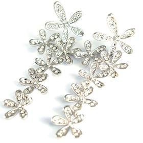 Новий рік  2018 - Сережки з кристалами Swarovski (DGE-33632)