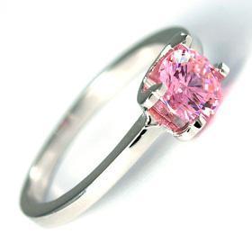 Свадьба - Кольцо с розовым цирконием Swarovski (DGR-33626)