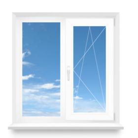 Окно 2-створчатое. Профиль REHAU EuroD70. Стеклопакет 4/10/4/10/4і, цвет: белый