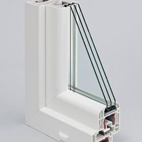 Окно 3-створчатое. Профиль REHAU EuroD70. Стеклопакет 4/10/4/10/4і, цвет: белый