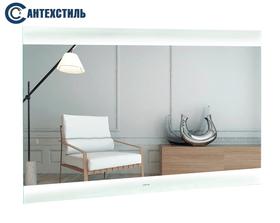 Зеркало для ванной Liberta FIORI с подсветкой, сенсор движения, линза с подсветкой, часы, 1000х700
