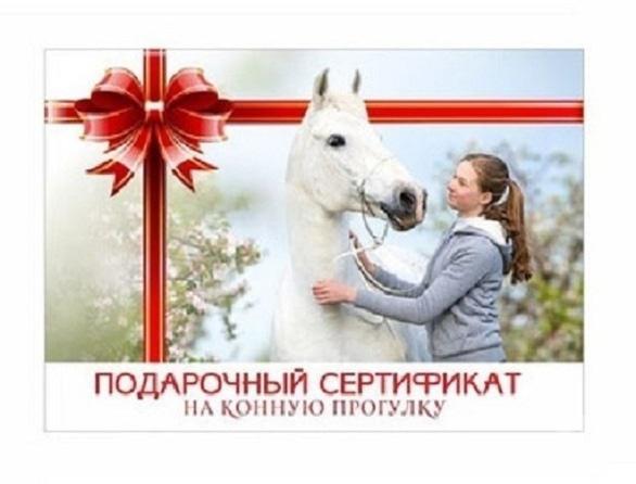 Сван, конно-спортивный клуб - Подарочный сертификат на конную прогулку