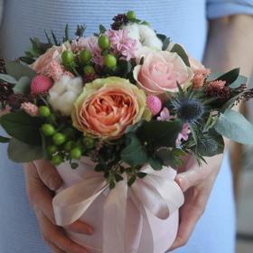 День Св. Валентина - Цветочный бокс Гравити