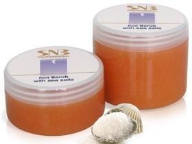 SNB Professional (PSN110) Скраб для ног с морской солью, 300мл
