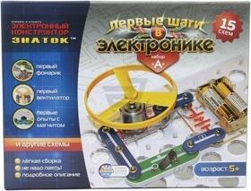 Школа - Конструктор-ЗНАТОК 'Первые шаги в электронике' 15 схем, набор А