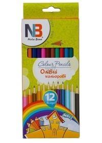 Школа - Карандаши цветные 12ед., пластиковые Nota Bene