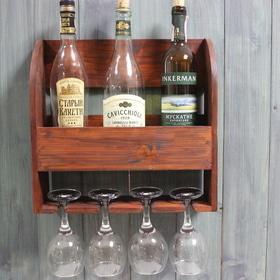 8 марта - Полка для вина и бокалов