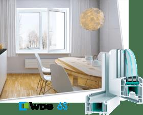 Окно металоплатстикове WDS 6S