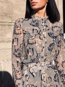 8 марта - Платье Нина 3 (цветочный принт)
