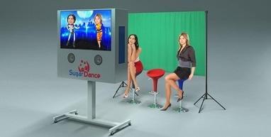 Танцующие головы, мобильная шоу-студия - Работа студии на мероприятии