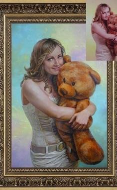 Сергей Байрак, художник - Портрет масляными красками по фотографии