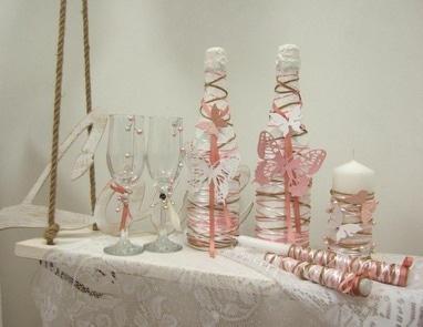 Творческая мастерская Яся - Декор свечей, бокалов и шампанского