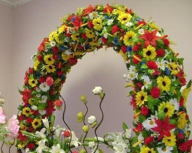 Тарас Бульба, корчма - Весільна арка у народному стилі