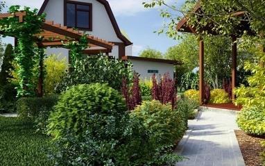 Terrassa, ландшафтный дизайн - Озеленение