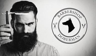 Barbershop Doberman, мужская парикмахерская - 'Королевское' бритье