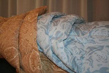 Реставрация подушек, услуги по чистке и реставрации подушек - Реставрация двухспального одеяла 172см х 205см