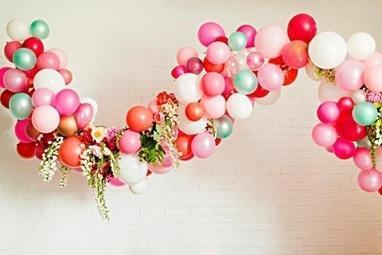 Чудесный день, творческая мастерская - Гирлянды из воздушных шариков