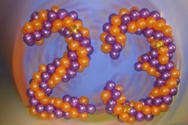 Чудесный день, творческая мастерская - Изготовление объемных букв и цифр из шариков