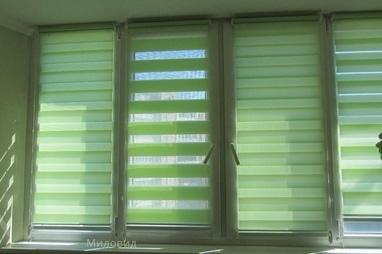 Миловид, рулонные шторы, жалюзи, окна, двери, роллеты - Изготовление роловых штор 'День – Ночь'