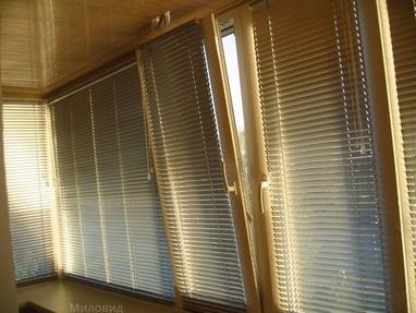 Миловид, рулонные шторы, жалюзи, окна, двери, роллеты - Изготовление горизонтальных жалюзи