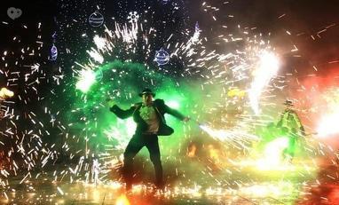 Сварожичи, огненное шоу, пиротехническое шоу, великаны на ходулях - Огненно-пиротехническое шоу 'ФЕЕРИЯ'