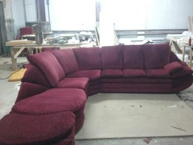 Перетяжка мягкой мебели - Перетяжка угловых диванов