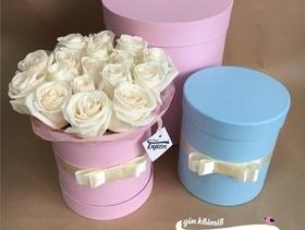"""Люкс предложение от Цветочного дома """"Букет"""": розы в шляпной коробке"""