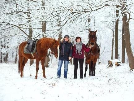 """Специальная цена на фотосессию с лошадьми для влюбленных от """"Pegas"""""""