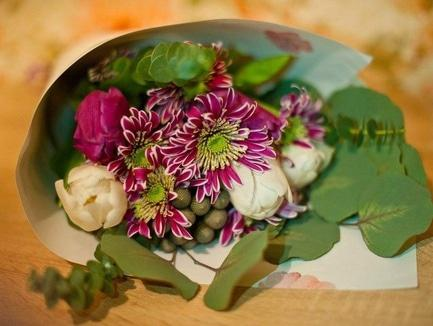"Скидка на цветы от ""Квітчарня"""